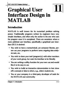 Graphical User Interface Design in MATLAB Introduction