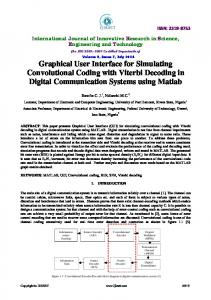 Graphical User Interface for Simulating Convolutional ... - IJIRSET