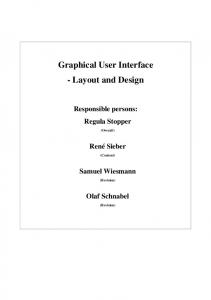 Graphical User Interface - Layout and Design - CiteSeerX