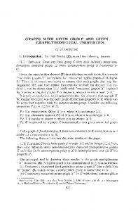 graphs with given group and given graph-theoretical ...