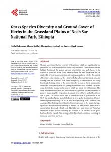 Grass Species Diversity and Ground Cover of ... - Semantic Scholar