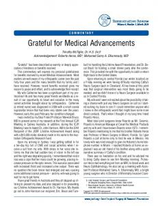 Grateful for Medical Advancements - Joint Implant Surgery & Research ...