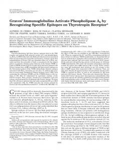Graves' Immunoglobulins Activate Phospholipase A2 by Recognizing ...