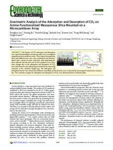 Gravimetric Analysis of the Adsorption and Desorption of CO2 on ...