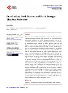 Gravitation, Dark Matter and Dark Energy - Scientific Research ...