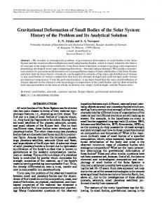 Gravitational Deformation of Small Bodies of the Solar ... - Springer Link