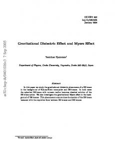 Gravitational Dielectric Effect and Myers Effect