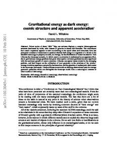 Gravitational energy as dark energy: Cosmic structure and apparent ...
