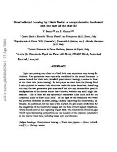 Gravitational Lensing by Black Holes: a comprehensive treatment and ...