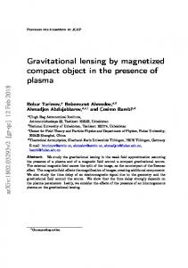 Gravitational lensing by magnetized compact object in the ... - arXiv