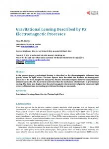 Gravitational Lensing Described by Its Electromagnetic Processes