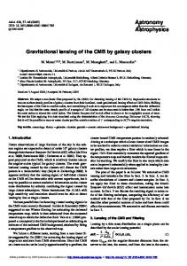 Gravitational lensing of the CMB by galaxy clusters - Astronomy ...