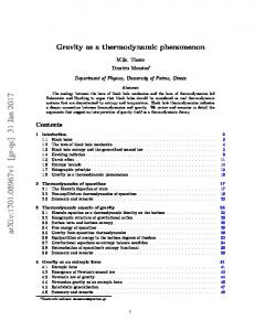 Gravity as a thermodynamic phenomenon