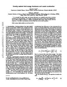 Gravity assisted dark energy dominance and cosmic acceleration