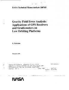 Gravity Field Error Analysis - NASA Technical Reports Server (NTRS)