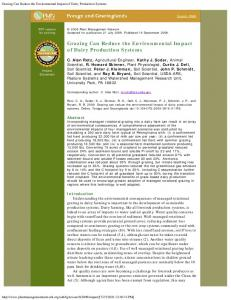 Grazing Can Reduce the Environmental Impact of ... - PubAg - USDA