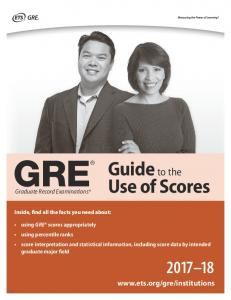 GRE Guide to the Use of Scores 2013-2014