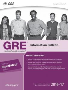 GRE ® Information and Registration Bulletin (PDF) - ETS