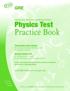 GRE Physics Test Practice Book