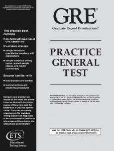 GRE Practice General Test - ApplyBook.com
