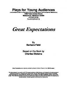 Great Expectations - Plays for Young Audiences