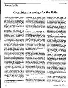 Great ideas in ecology for the 1990s