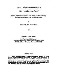 GREAT LAKES FISHERY COMMISSION 2008 Project ...