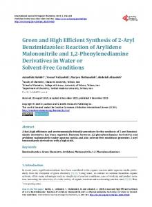 Green and High Efficient Synthesis of 2-Aryl Benzimidazoles: Reaction