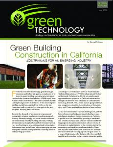 Green Building Construction in California - Green Technology