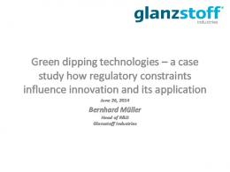 Green dipping technologies – a case study how ...