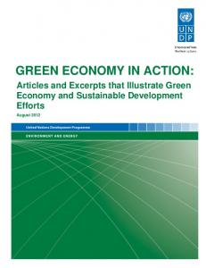 Green Economy in Action: Articles and Excerpts that Illustrate Green ...