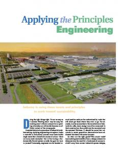 green engineering principles - ACS Publications - American Chemical ...
