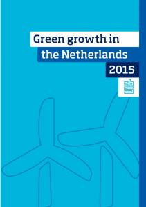 Green growth in the Netherlands 2014 - CBS