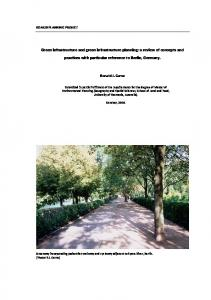 Green infrastructure and green infrastructure planning