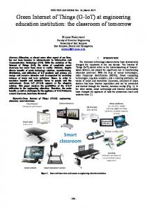 Green Internet of Things (G-IoT) at engineering