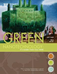 Green Nanotechnology: It's Easier Than You Think