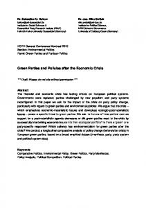 Green Parties and Policies after the Economic Crisis - European ...