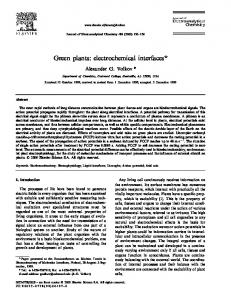 Green plants: electrochemical interfaces - Esalq