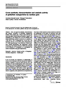 Green synthesis, characterization and catalytic activity ... - Springer Link