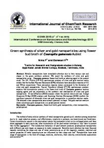 Green synthesis of silver and gold nanoparticles using flower bud