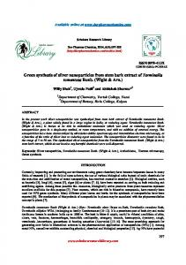Green synthesis of silver nanoparticles from stem bark extract of ...