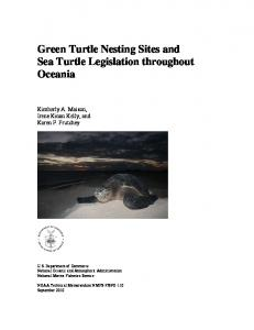 Green Turtle Nesting in Oceania - NMFS Scientific Publications Office
