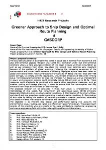 Greener Approach to Ship Design and Optimal Route Planning ...