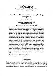 Greenhouse Effect in Semi-Transparent Planetary Atmospheres