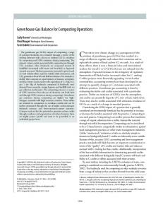 Greenhouse Gas Balance for Composting ... - Semantic Scholar