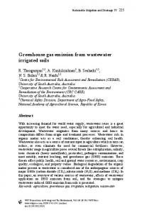 Greenhouse gas emission from wastewater irrigated ...