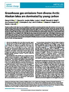 Greenhouse gas emissions from diverse Arctic