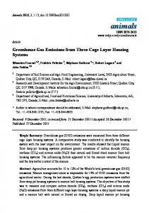 Greenhouse Gas Emissions from Three Cage ... - Semantic Scholar