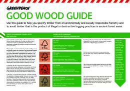 Greenpeace Good Wood Guide