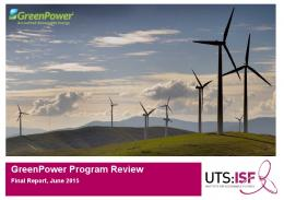 GreenPower Program Review: Final Report